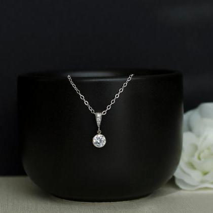 Bridal Necklace, Cubic Zirconia Bez..