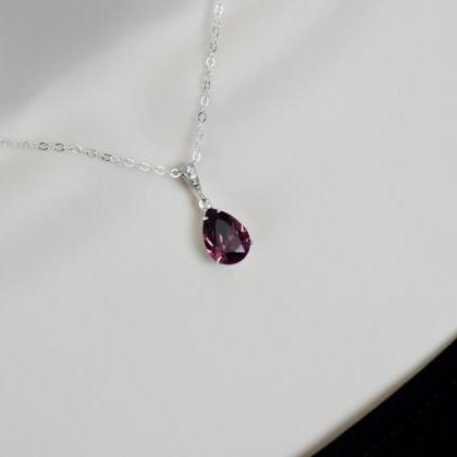 Purple Amethyst Necklace, Bridesmai..