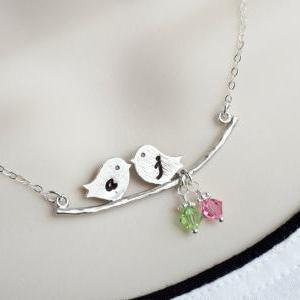 PERSONALIZED Initial Love Birds on ..