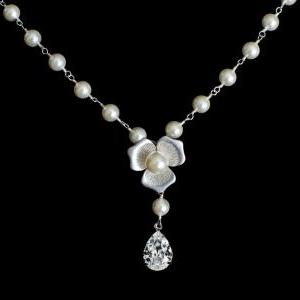 Bridal Necklace, Bridal Pearl Nekla..