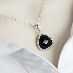 Bridesmaids Necklace - Jet Black Gl..