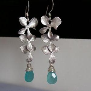 Triple Orchid and Blue Turquoise Ca..