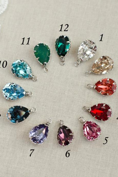 ADD ON - Additional Swarovski Pendant - Crystal Dangle/Drop Charm - Swarovski Birthstone Charm